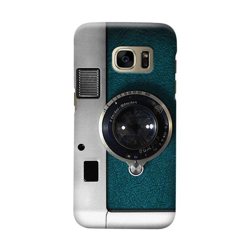 Indocustomcase Camera Green Cover Casing for Samsung Galaxy S6