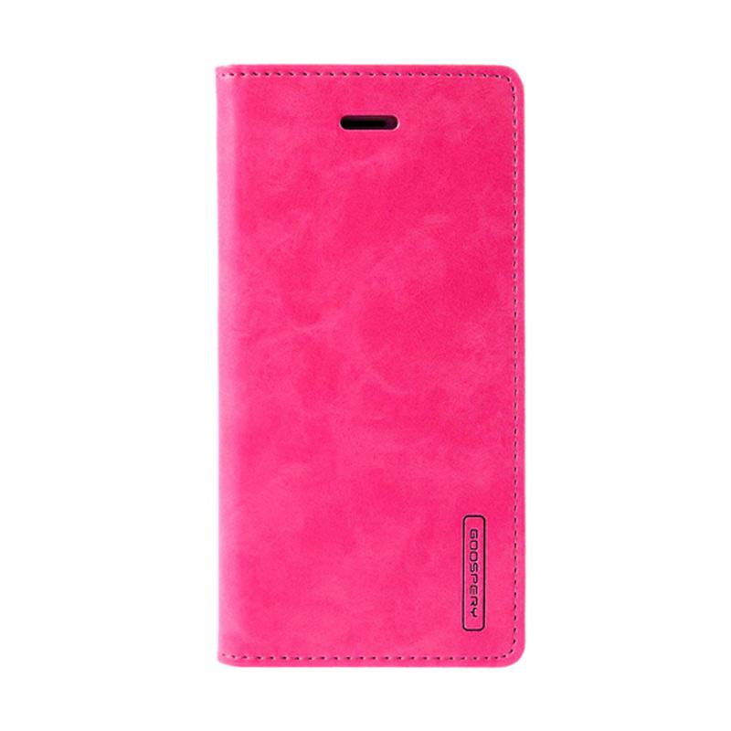 Mercury Goospery Bluemoon Flip Cover Casing for iPhone 6 5.5 inch - Hot Pink