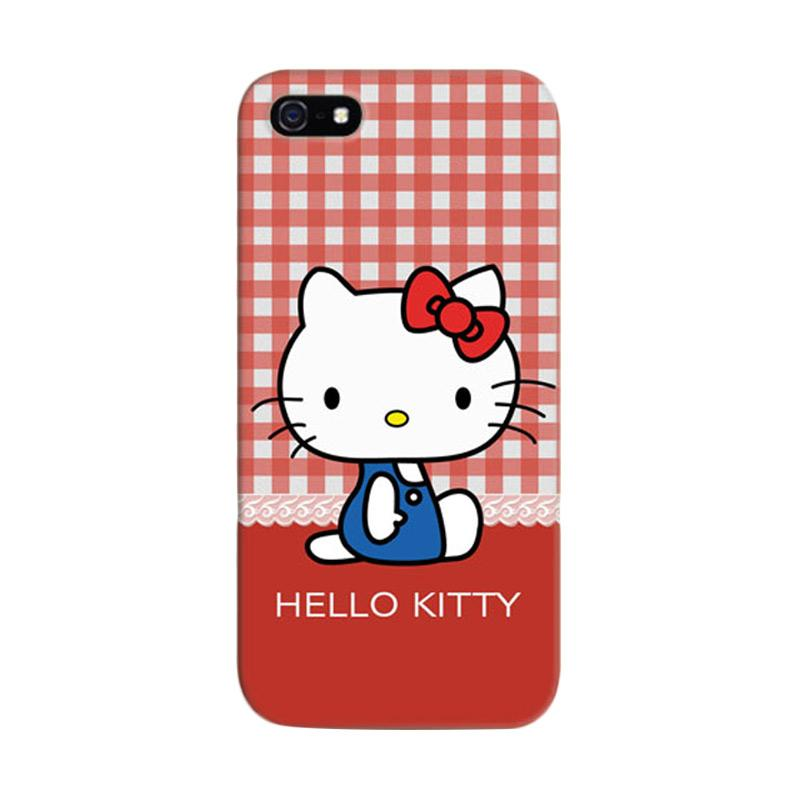 Indocustomcase Hello Kitty 07 Cover Hardcase Casing for iPhone 5/5S/SE