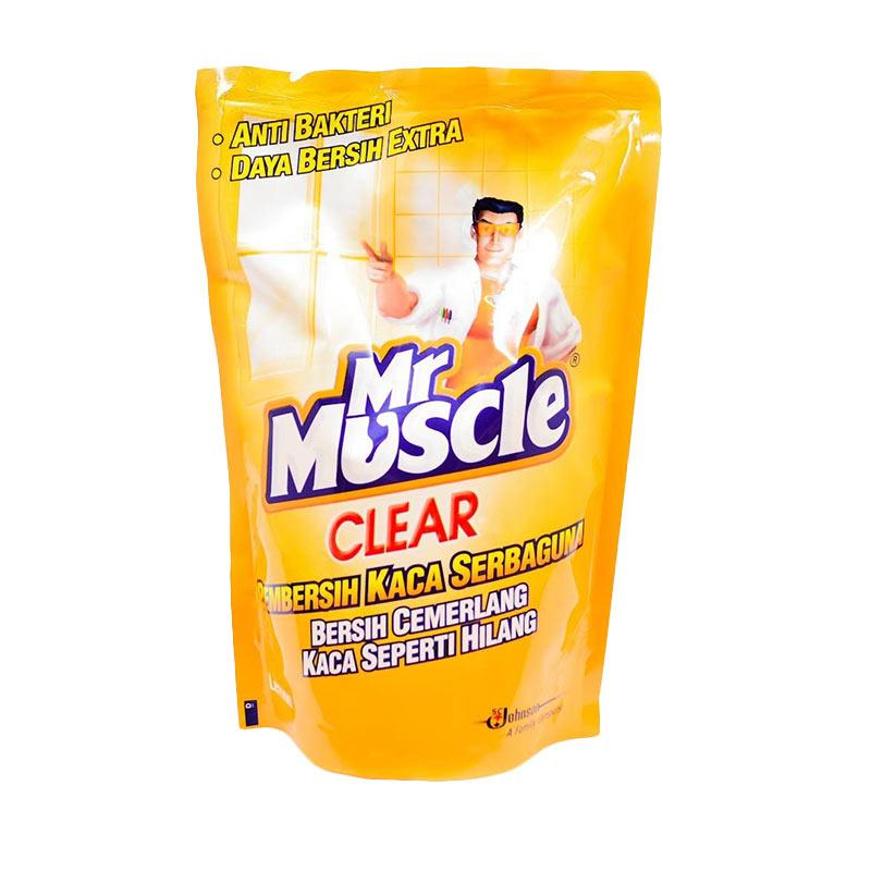 harga MR. MUSCLE Clear Glass Liquid Lemon Pouch Pembersih Kaca Serbaguna [440 mL/4 Pcs] 319000000 Blibli.com
