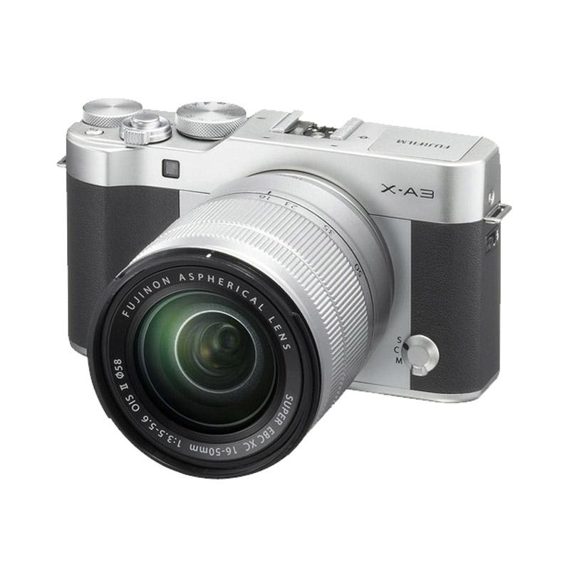 Fujifilm X-A3 with 16-50mm Lens  Kamera Mirrorless - Silver Free Mini 8 + Memory