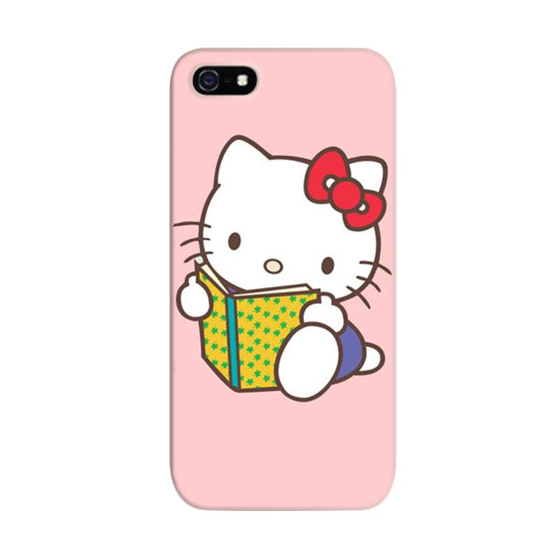 Indocustomcase Hello Kitty 08 Cover Hardcase Casing for iPhone 5/5S/SE