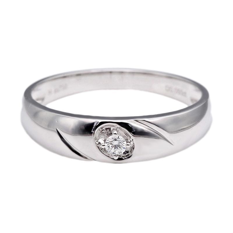 Tiaria DHTXHJZ040DHTXHJZ019 Perhiasan Cincin Emas Putih dan Berlian - White Gold [18K]