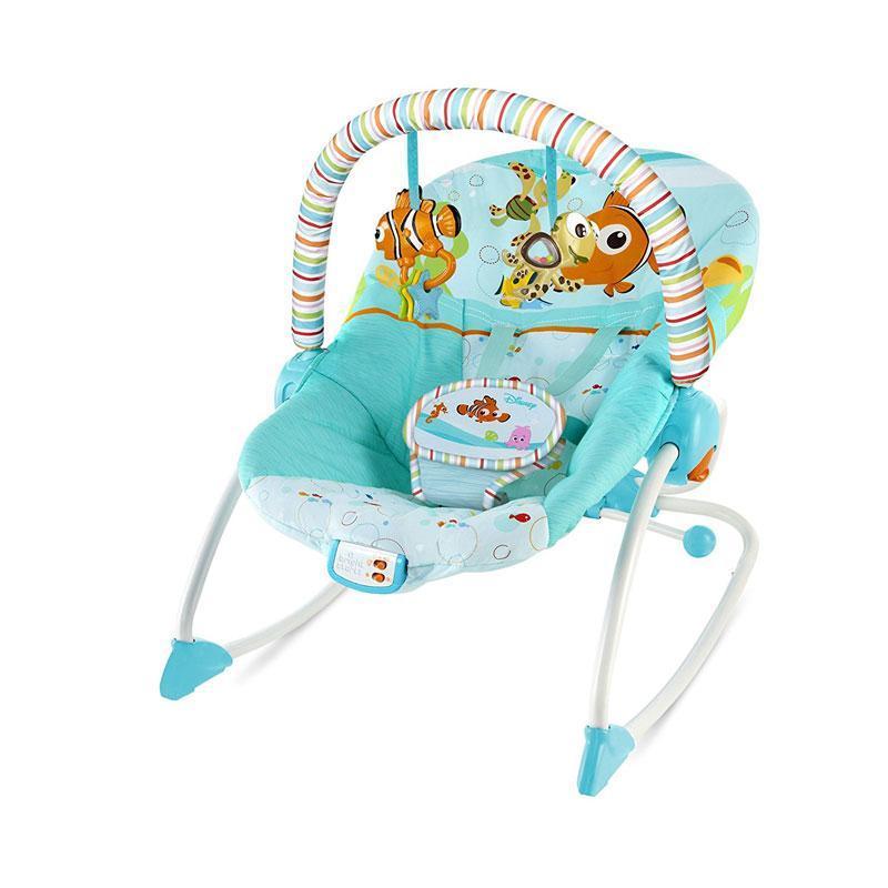 harga Bright 10257 Starts Finding Nemo Fins & Friends Infant to Toddler Rocker Baby Bouncer Blibli.com