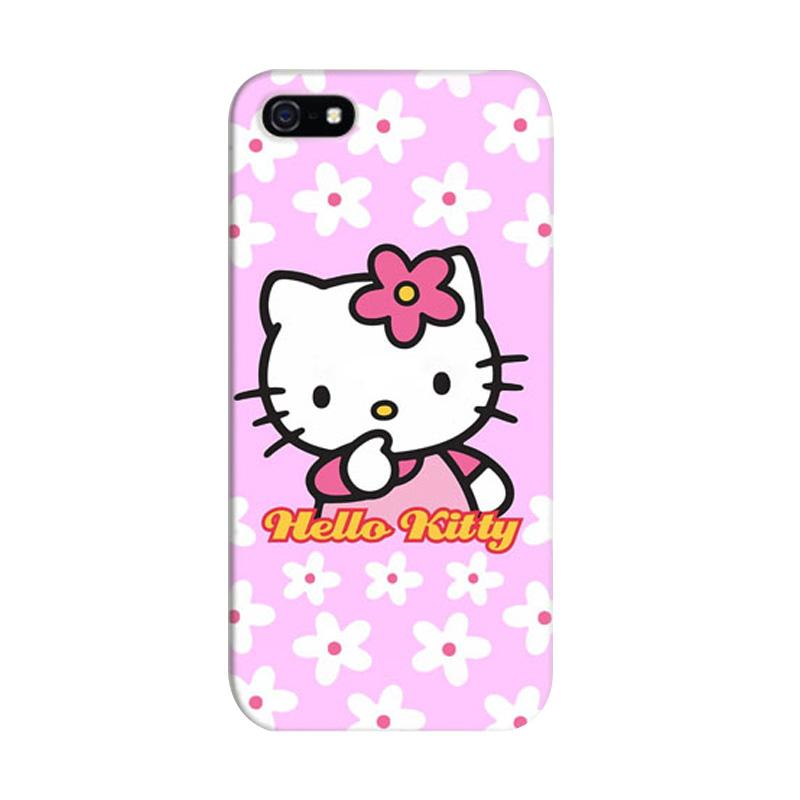 Indocustomcase Hello Kitty 09 Cover Hardcase Casing for iPhone 5/5S/SE