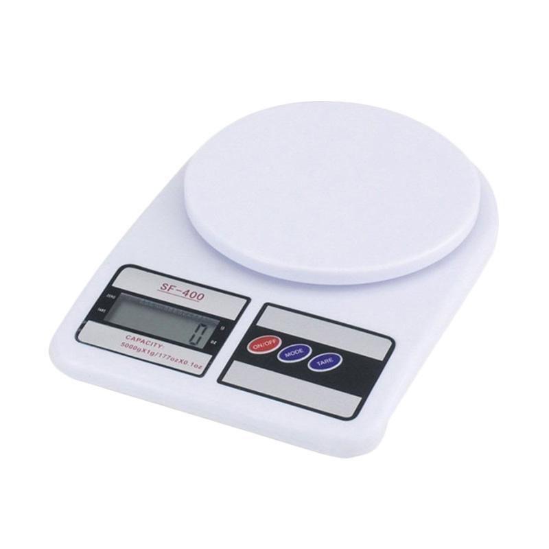 SF 400 Light Electronic Kitchen Scale Timbangan Dapur Digital - Putih [7 kg]