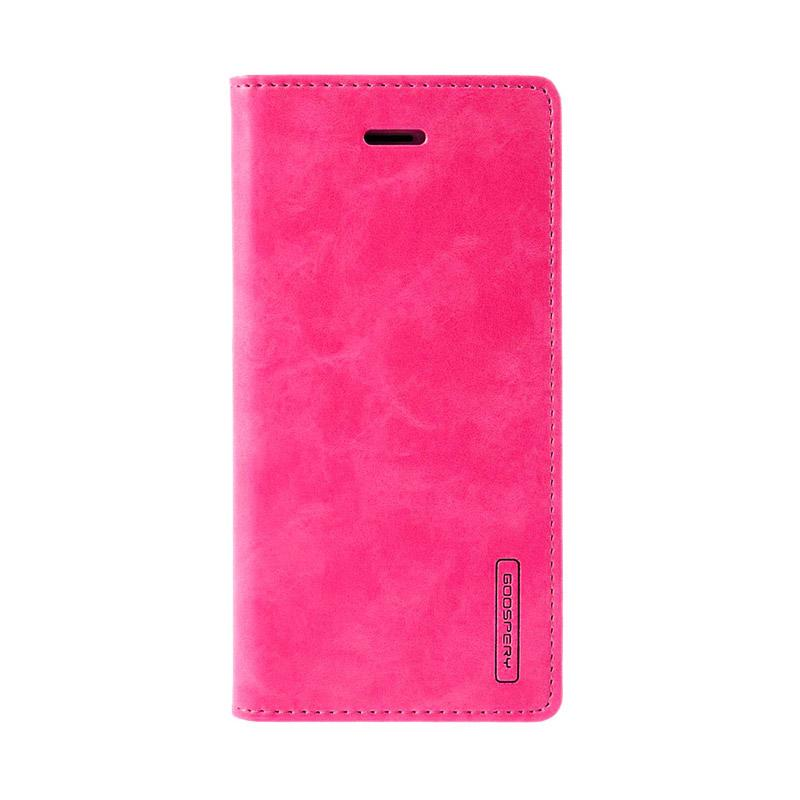 Mercury Goospery Blue Moon Flip Cover Casing for iPhone 7 4.7 Inch - Hot Pink