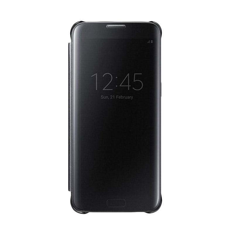 Jual OEM Wallet Mirror View Flip Cover Casing for Samsung Galaxy J2 Prime New - Hitam