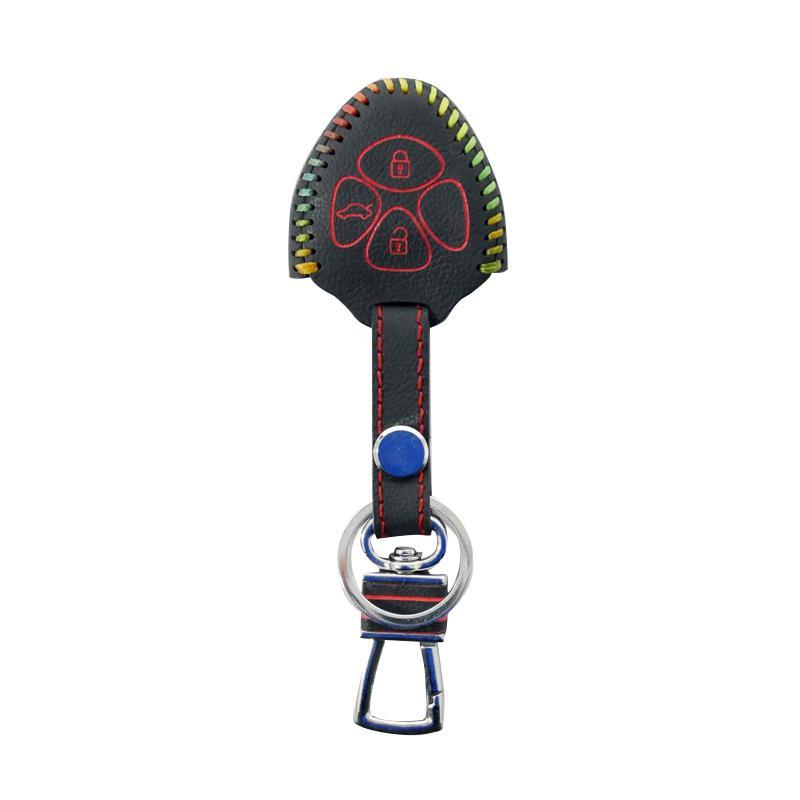 SIV - Kulit Premium Sarung Kunci Mobil 3 Tombol for Toyota - Rainbow CVR-PRM6165