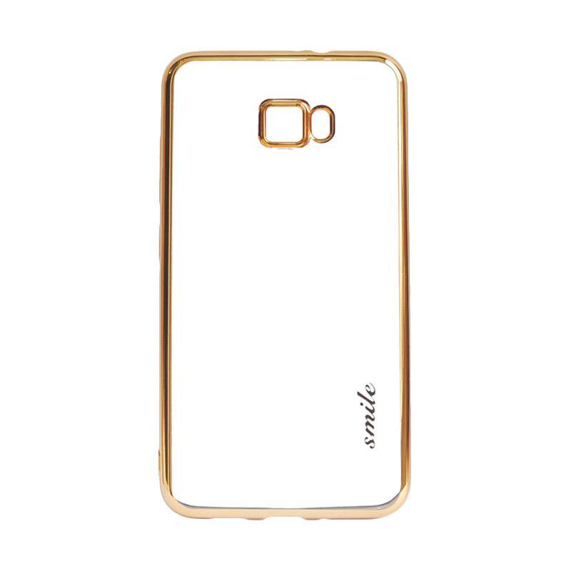 SMILE Ultrathin Shining List Chrome Casing for Samsung Galaxy J5 Prime - Gold