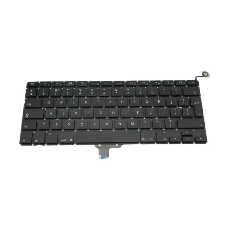 Apple Keyboard Internal Replacement for Macbook Pro Unibody A1278 13 Inch - Hitam [Backlight]