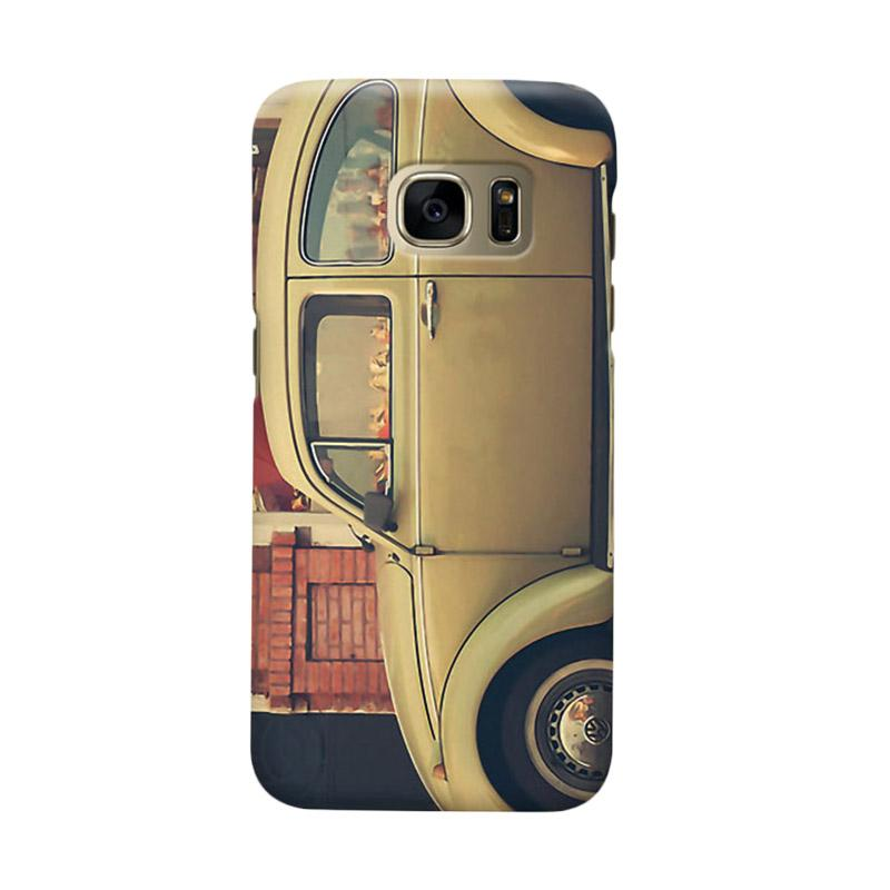 Indocustomcase Beige VW Cover Casing for Samsung Galaxy S6 Edge