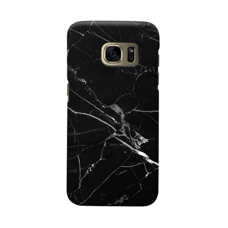 Indocustomcase Black Marble C2 Cover Casing for Samsung Galaxy S6