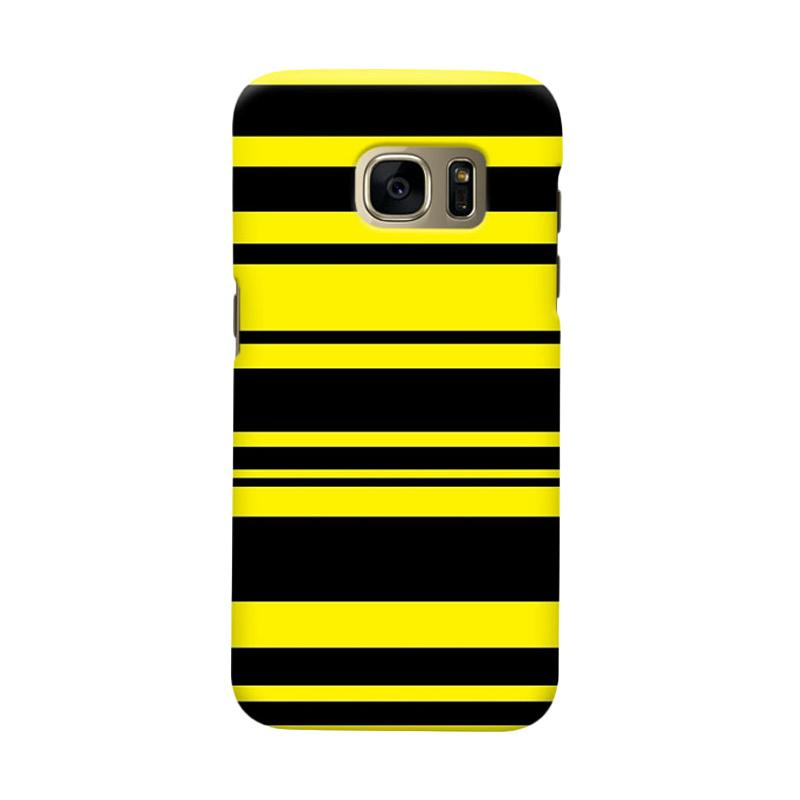 Indocustomcase BVB Stripe Cover Casing for Samsung Galaxy S6