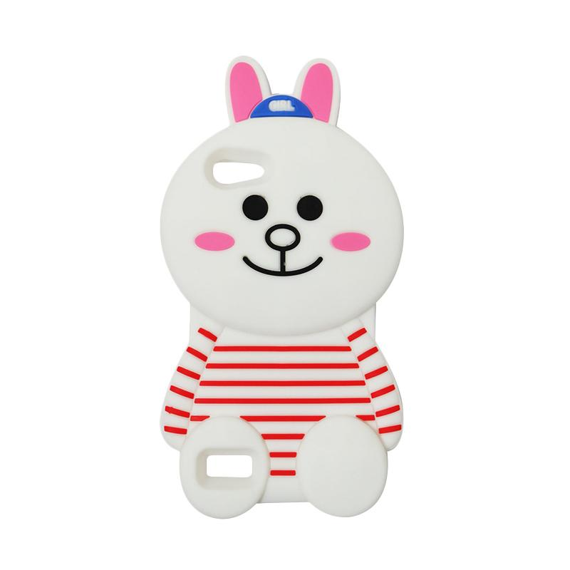 VR 3D Karakter Cony Line Edition Silicon Softcase Casing for Oppo Neo7 or A33 - White