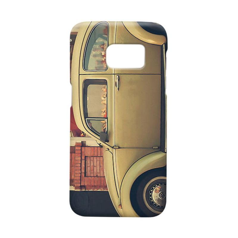 Indocustomcase Beige VW Casing for Samsung Galaxy S7 Edge