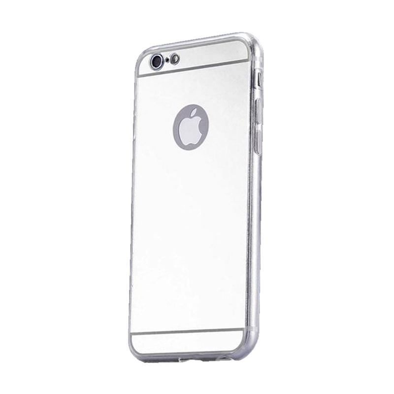 Kimi Mirror Case Aluminium Bumper Backdoor Stylish Casing for Apple iPhone 5/5S/SE - Silver