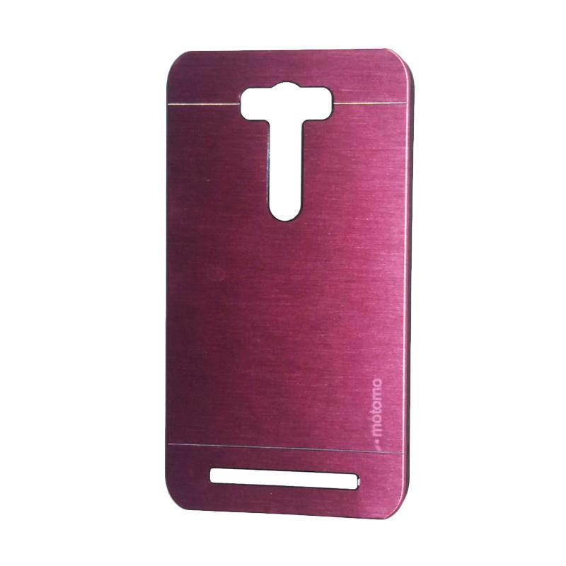 Motomo Metal Backcase Hardcase Casing for Asus Zenfone 2 Laser ZE550KL 5.5 Inch - Pink