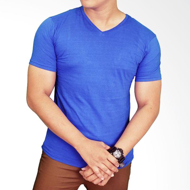 Gudang Fashion FP 524 T-Shirt Polos Basic Vneck Lengan Pendek Spandex - Blue Extra diskon 7% setiap hari Citibank – lebih hemat 10% Extra diskon 5% setiap hari