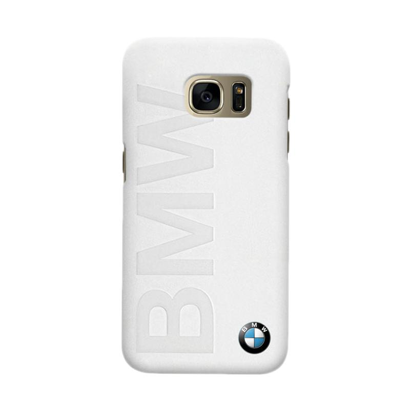 Indocustomcase BMW Logo White Cover Casing for Samsung Galaxy S6