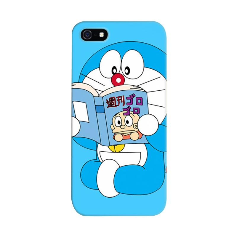 Indocustomcase Doraemon Reading Cover Casing for Apple iPhone 5/5S/SE
