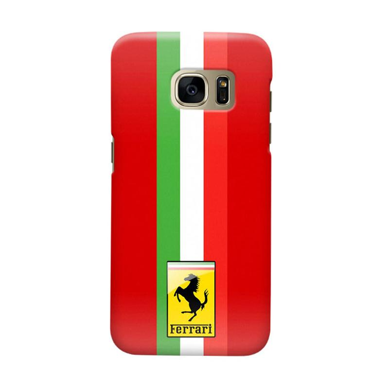 Indocustomcase Ferarri Cover Casing for Samsung Galaxy S7 Edge