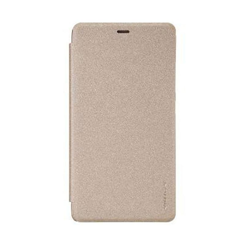 Nillkin Original Sparkle Flip Cover Casing for Xiaomi Redmi Note 3 - Gold