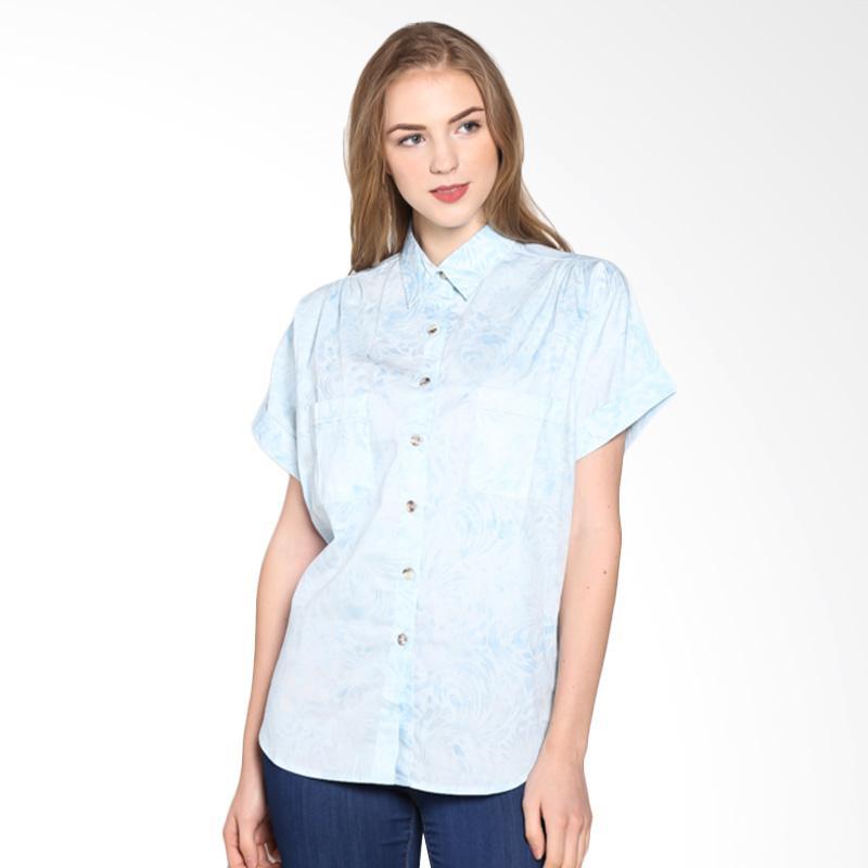 Batik Pria Tampan Wblpd-04081606c Women Whirlwind Shirt Atasan Wanita - Ice