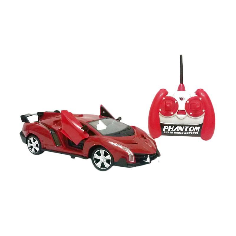 Golden Shop RC Modern Team Model Lamborghini Mobil Remote Control - Merah