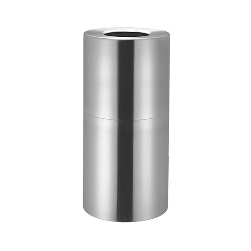 HighPoint AEK9080 Nobi Trash bin Aluminium Receptacle Tempat Sampah - Silver
