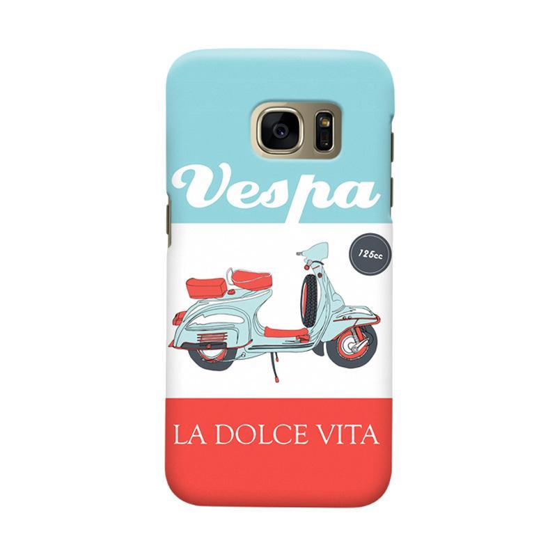 Indocustomcase Vespa La Dolce Vita Casing for Samsung Galaxy S6 Edge