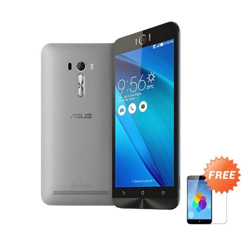 Ultrathin Aircase Casing for Zenfone Selfie 2D551KL + Free Tempered Glass - Grey Clear