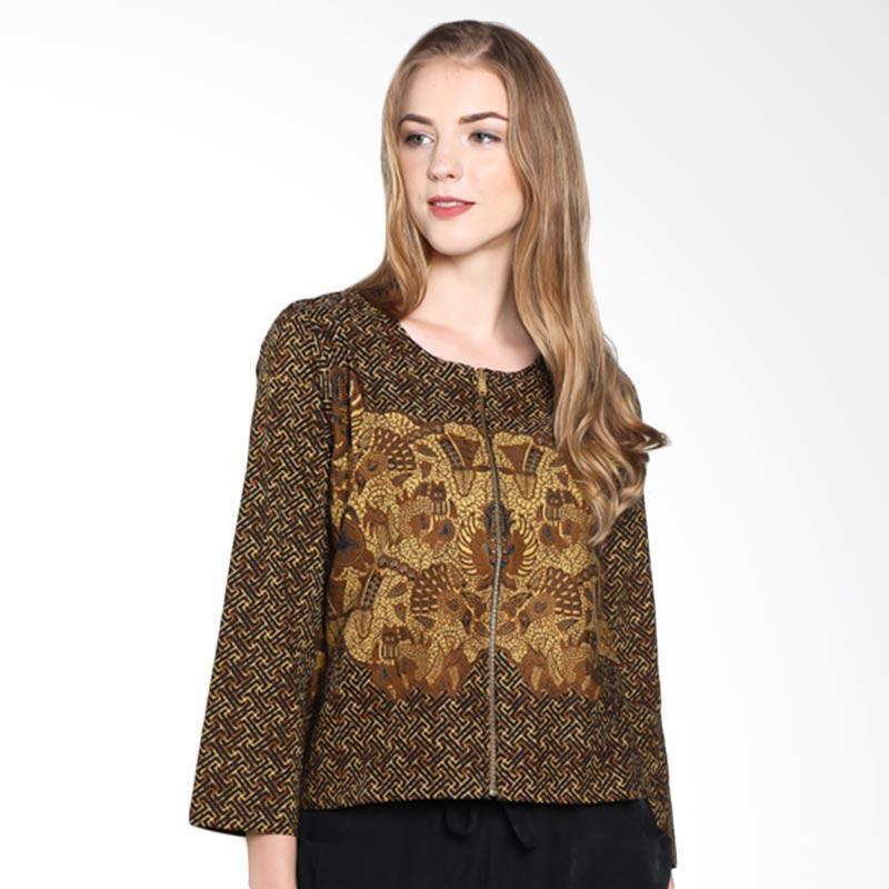 Batik Pria Tampan Woupj-04081627p Banji Kukilorino Sm Blazer Wanita - Teak