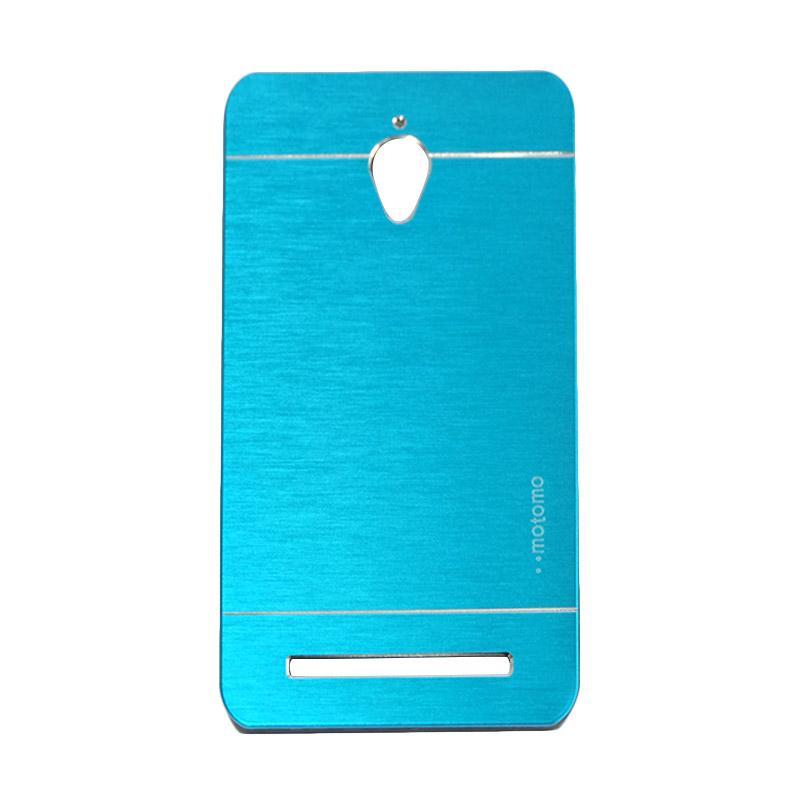 Motomo Metal Hardcase Backcase Casing for Asus Zenfone Go ZC500TG 5.0 Inch - Sky Blue