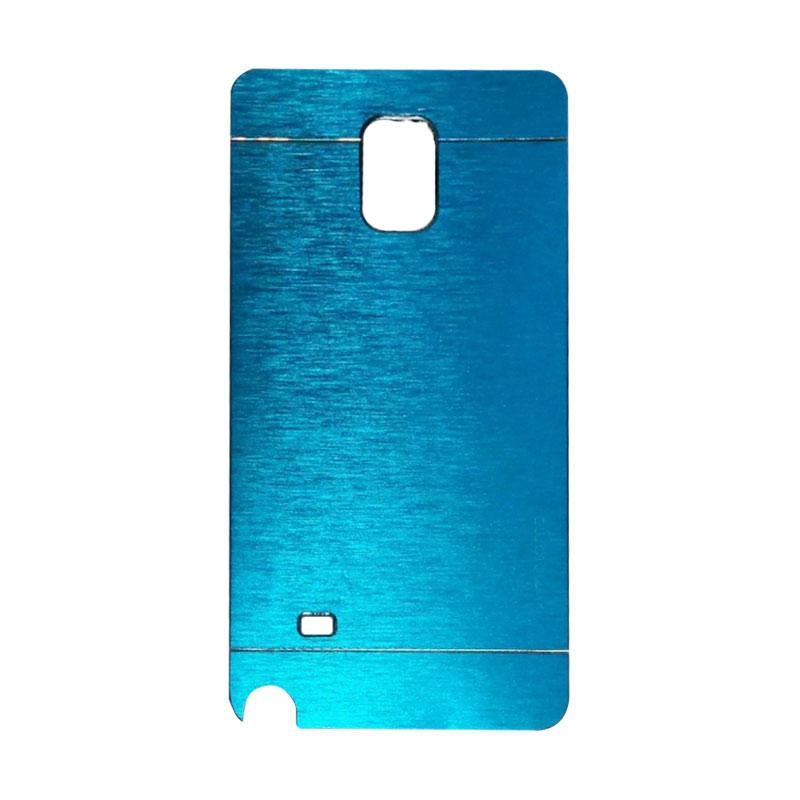 Motomo Metal Hardcase Backcase Casing for Samsung Galaxy Note 4 or N910 - Sky Blue