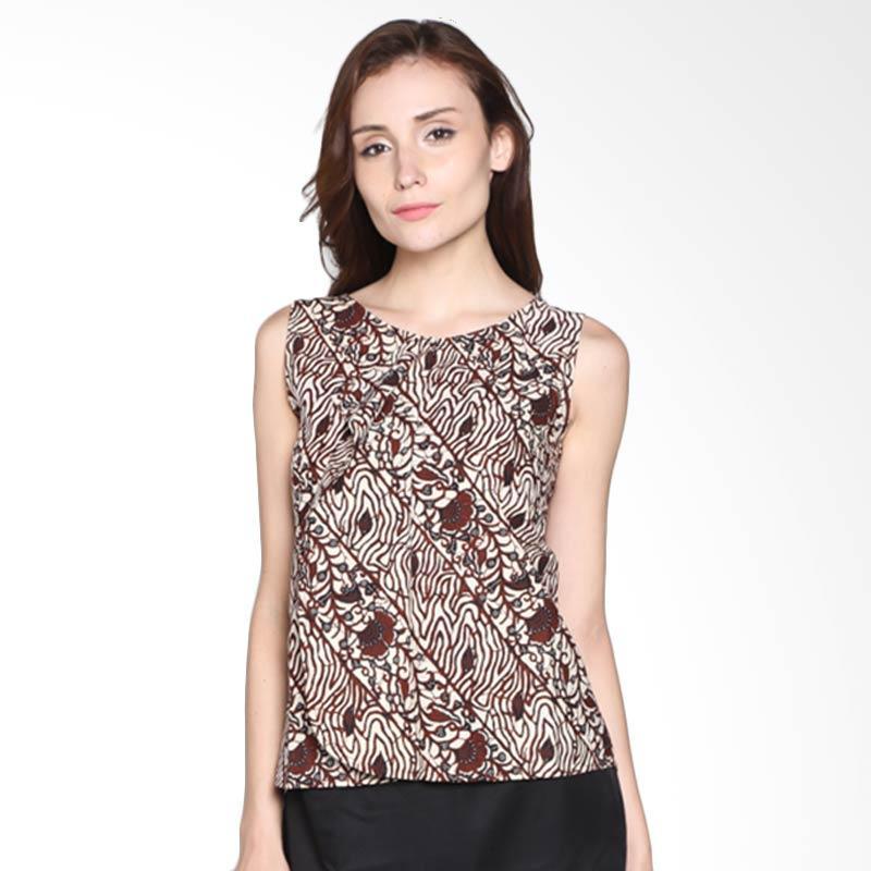 Batik Pria Tampan Women S-ACC Soka Seling Blouse WBLTL-03161243P Atasan Wanita - Teak