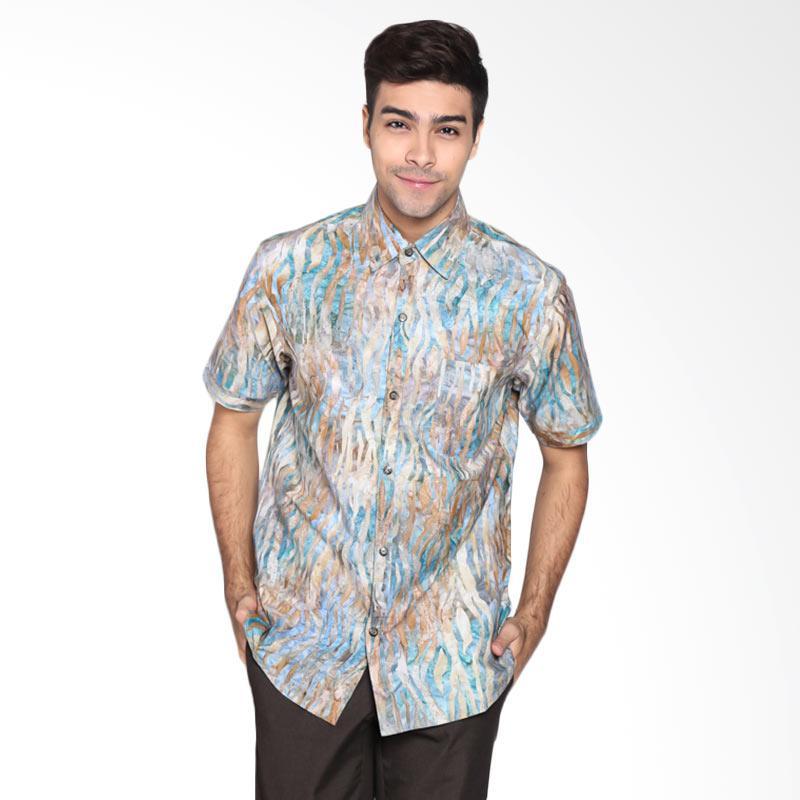 Batik Pria Tampan PKMPD-040816100C-Wild Men Zebra LG Slimfit Shirt Batik Pria