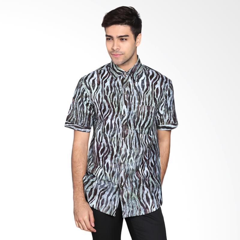 Batik Pria Tampan PKMPD-04081686C Men Cap Slim ABS Ebony Zebra Large Batik Pria