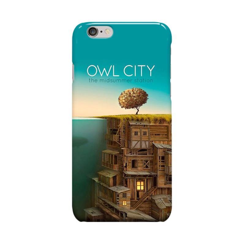 Indocustomcase Owl City Casing for Apple iPhone 6 Plus or 6S Plus