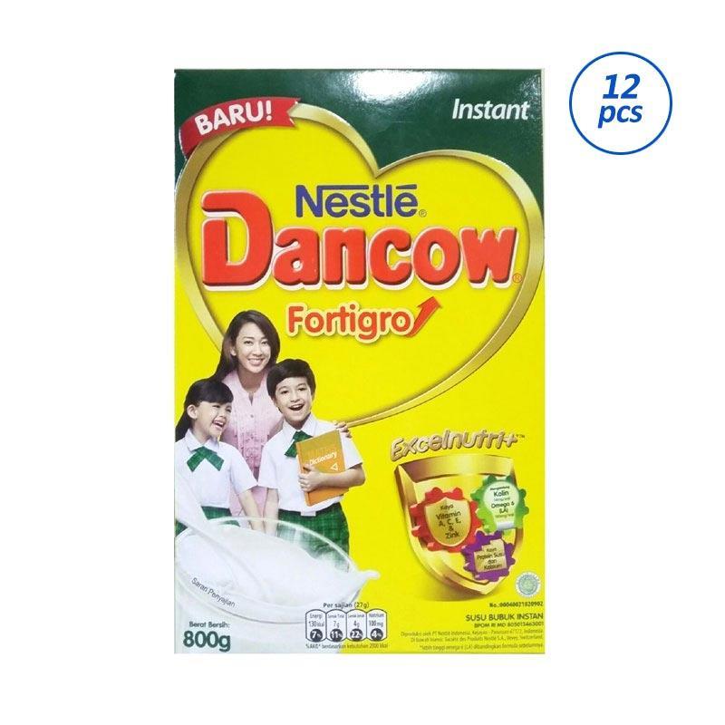 Nestle Dancow Instant FortiGro Susu Formula - Plain [800 g/12 pcs/Kemasan Karton]