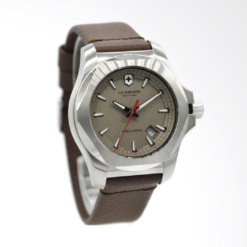 Victorinox Jam Tangan Pria - Coklat Silver INOX 241738