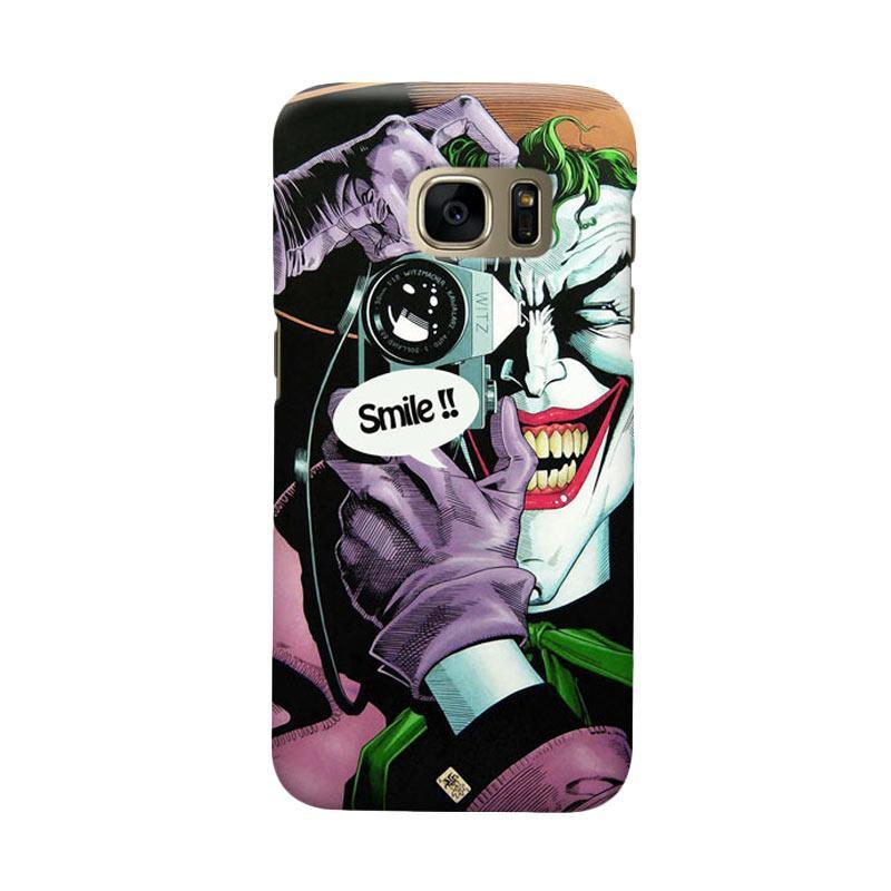 Indocustomcase Joker Smile Cover Casing for Samsung Galaxy S7 Edge
