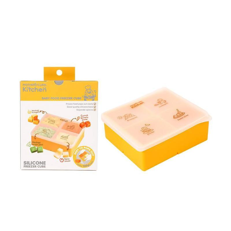 Mother's Corn Kitchen Baby Food Freezer Cube Tempat Makan Anak - Yellow [L]