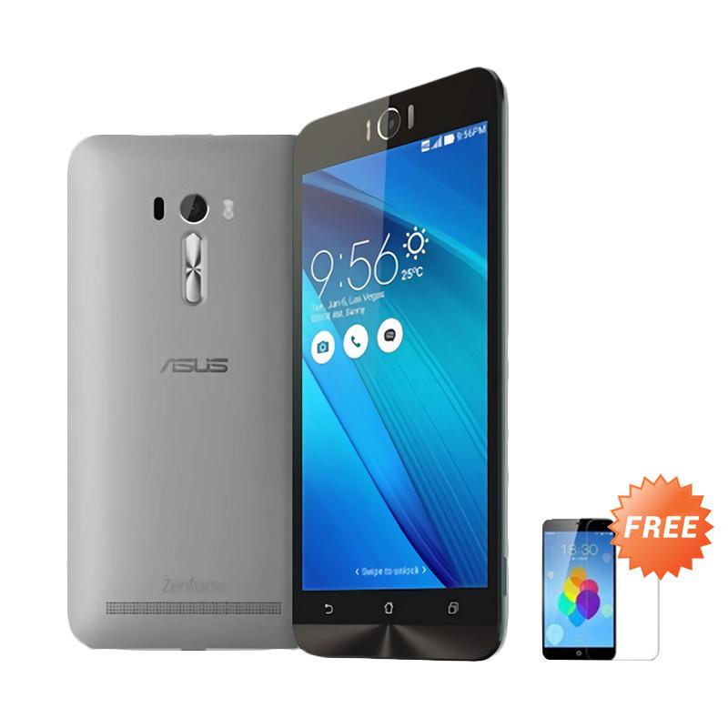 Ultrathin Aircase Casing for Asus Zenfone Laser 5.5 Inch - Grey Clear + Free Tempered Glass Screen Protector