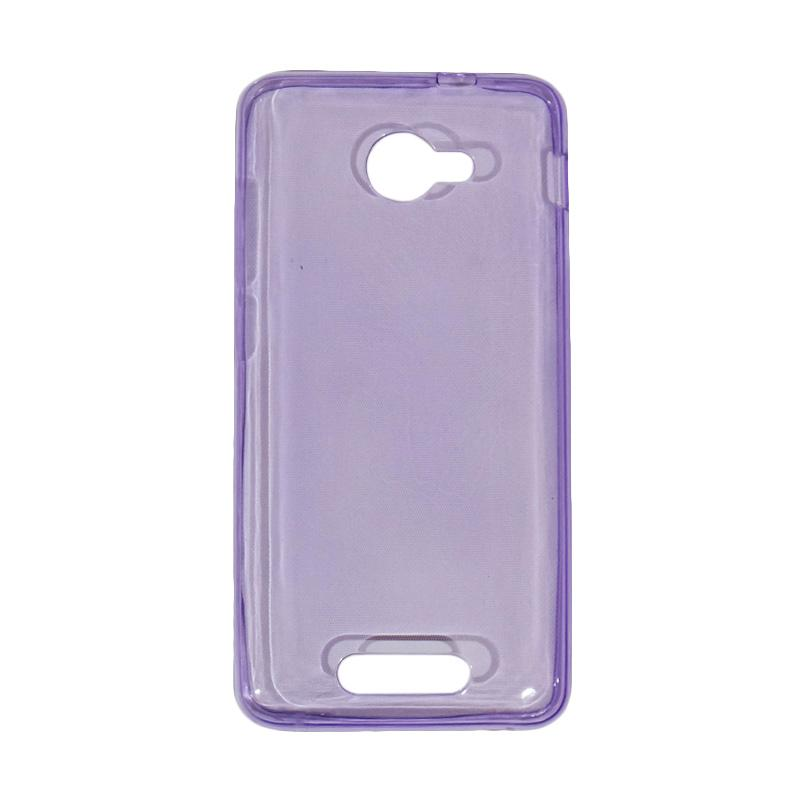 VR Ultrathin Silicone Jelly Softcase Casing for Smartfren Andromax B - Purple