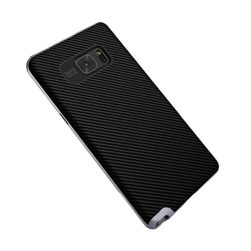Likgus Tough Shield Carbon Hybrid Casing for Samsung Galaxy Note 7 - Dark Grey