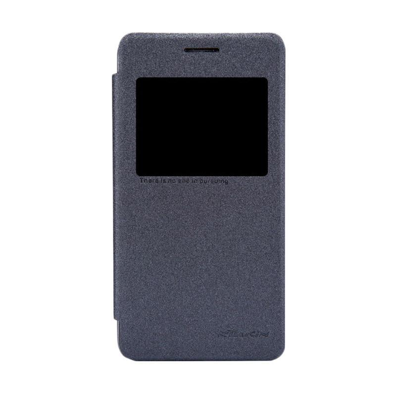 Nillkin Original Sparkle Leather Flip Cover Casing for Asus Zenfone 4S - Black