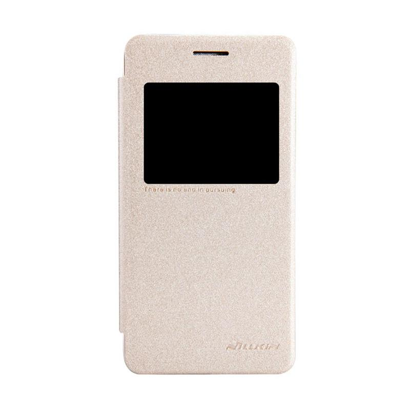 Nillkin Original Sparkle Leather Flip Cover Casing for Asus Zenfone 4S - Gold