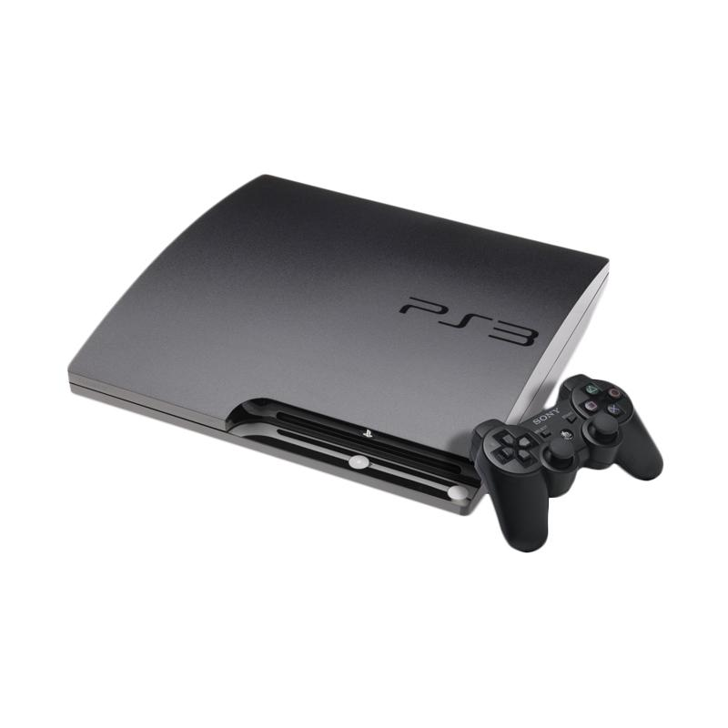 SONY PlayStation 3 Slim CFW Game Console - Black [500 GB/Refurbished] + Free Games dan HDMI