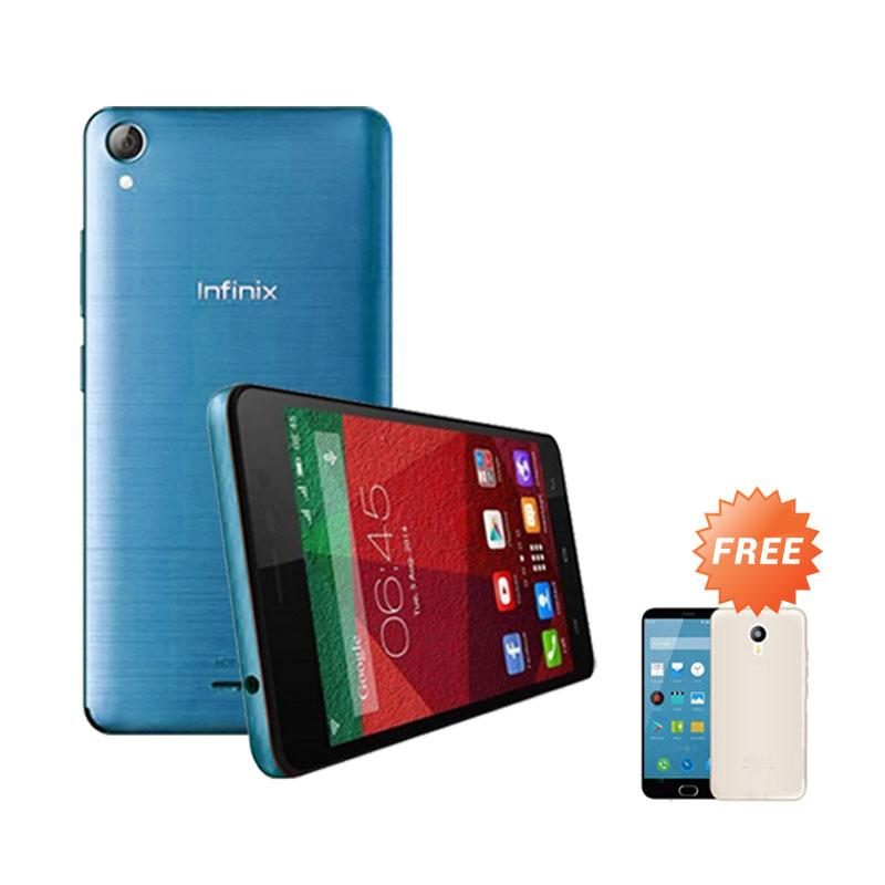 Ultrathin Casing for infinix Hot Note - Blue Clear + Free Ultra thin Casing
